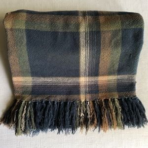 RALPH LAUREN | Vintage plaid blanket with tassels